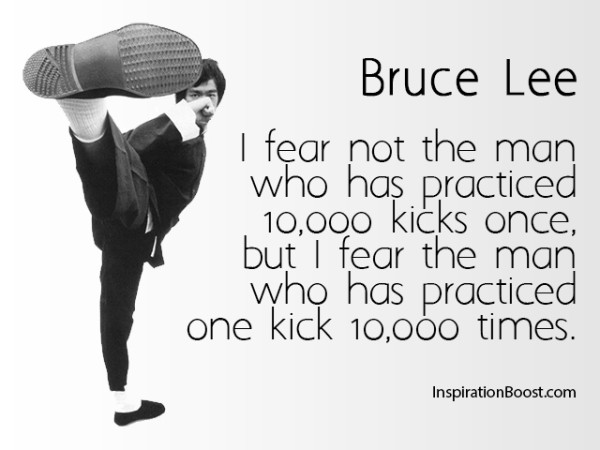 Bruce Lee Fear Quotes
