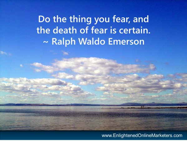 Ralph Waldo Emerson quote on fear