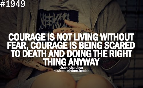 courage fear quote
