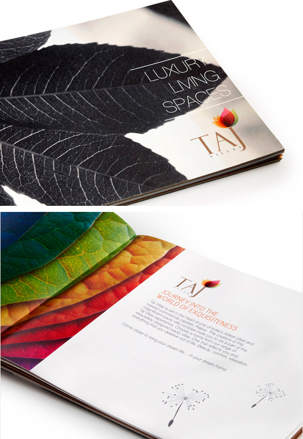 taj villas beautiful brochure design
