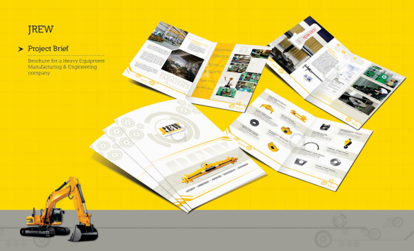 Corporate Consturction Brochure Design Idea