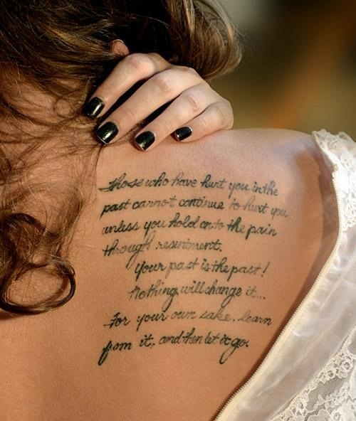 Love Quotes Tattoo Ideas For Girls