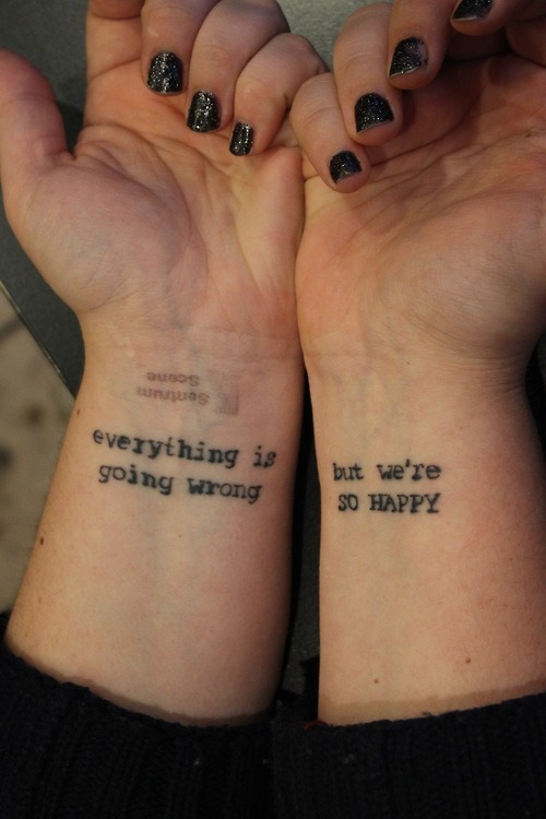 Quotes Tattoos On Wrist For Girls