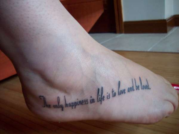 foot quote tattoos