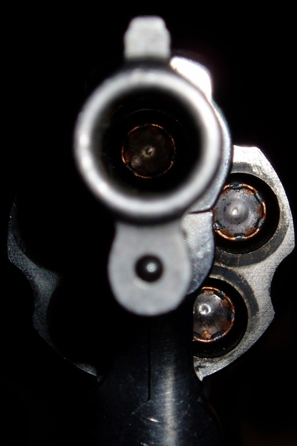 Aim gun barrel wallpaper iphone
