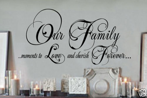 Wall Quotes Family And Candle