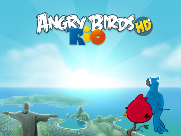 angry birds with rio wallpaper