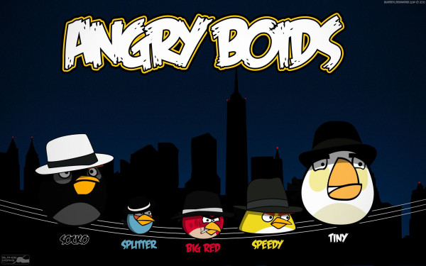 Stylish Angry Birds Wallpaper HD