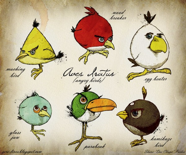 Different Angry Birds Picture