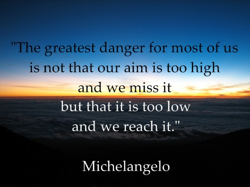 Michelangelo Sunrise Inspirational Quote