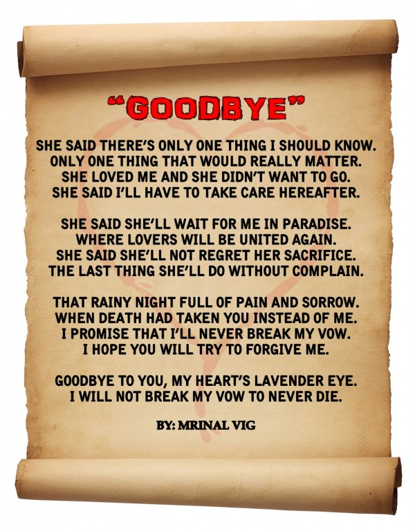 good GoodBye quote