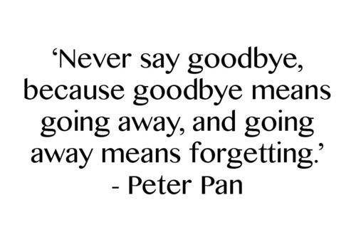 never say goodbye quotes