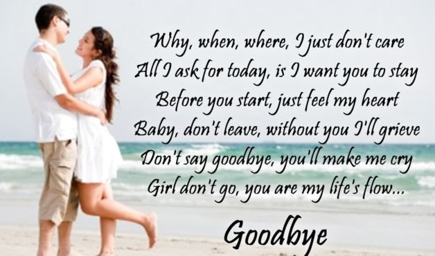 romantic goodbye quotes