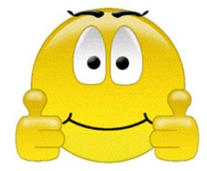 thumps up smiley