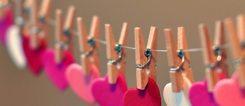 love hearts pegs