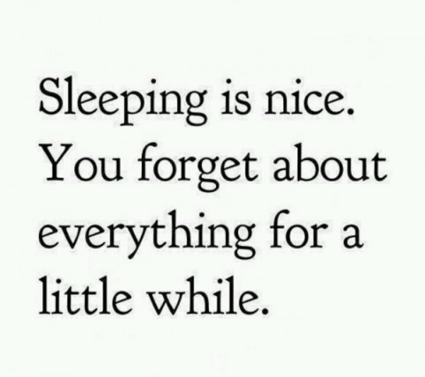 Sleeping is Nice