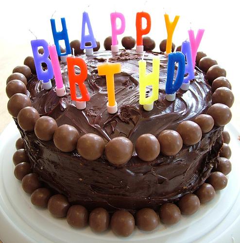 Chocolaty Happy Birthday Cake Pictures