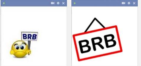 BRB emoticon