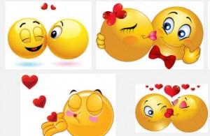 kiss emoticns