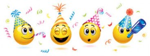 party emoticons