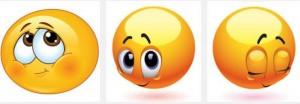 shy emoticons